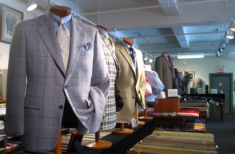 picture of mens suits on display